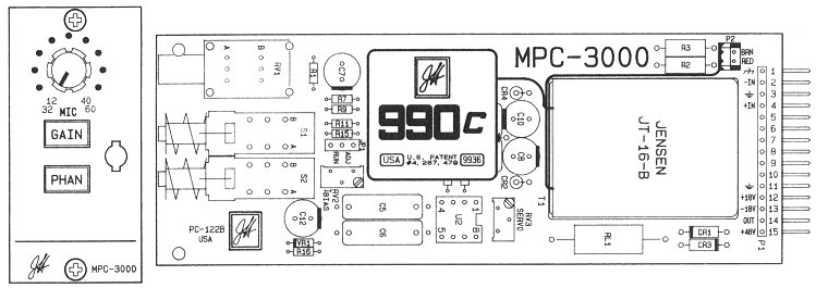 MPC-3000 Mic Preamp Card Details